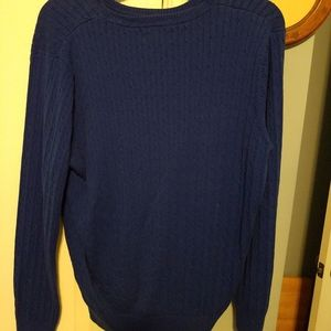 Royal blue cable knit sweater